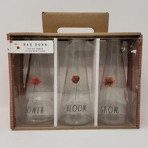 Rae Dunn | Set of 3 Glass Tall Bud Flower Vases
